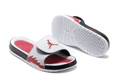 7aa28bbf9af099  Jordan  Hydro 5 Mens White Sport Red Red Jordan Sandals  Jordans Mens Slide