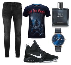 """""""Untitled #10"""" by aldinkooo ❤ liked on Polyvore featuring Topman, NIKE, Chanel, Kenneth Cole, men's fashion and menswear"""