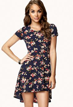 Floral High-Low Dress   FOREVER21 - 2047067914