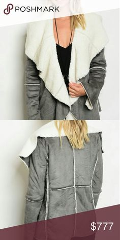 """❤JUST ARRIVED❤ CHARCOAL GRAY FAUX SUEDE JACKET Brand new Boutique item  Get ready for fall/winter with this Fabulous faux suede charcoal gray jacket featuring open front style and soft white faux fur. A must have for the season!!   *** TOP AND FAUX LEATHER LEGGINGS ALSO AVAILABLE*   Small Bust 20"""" pit to pit /Length 26"""" Medium bust 22"""" pit to pit/length 26"""" Large bust 24"""" pit to pit/length 27"""" Hand measurements are approx. 100%polyester   Holiday party Vegas winter fall coat coats jackets…"""