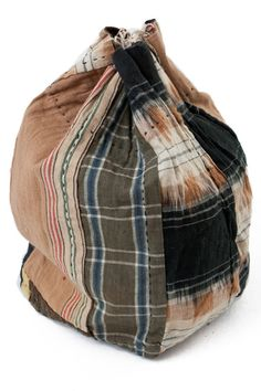 Patchwork komebukuro - Vintage Japanese patched rice bag. $78.00, via Etsy.