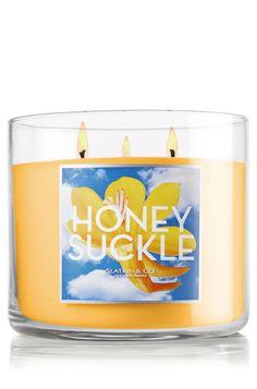 Honeysuckle 14.5 oz. 3-Wick Candle - Slatkin & Co. - Bath & Body Works slatkin.com