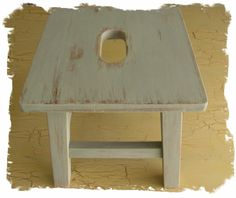 Cottage Chic Wooden Milking Stool by JoyfulMoonDesigns on Etsy, $29.00