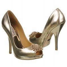 Badgley Mischka Lissa Shoes (Platinum Metallic) - Women's Shoes - 5.5 M