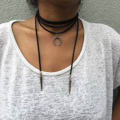 A personal favorite from my Etsy shop https://www.etsy.com/listing/398878771/august-wrap-necklace-vegan-faux-suede