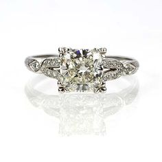 New York, NY Jewelry, engagement rings - Leigh Jay Nacht - Replica Art Deco Engagement Ring - 1003-22