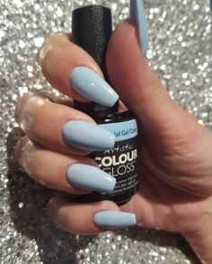 Pastel Nails using Artistic Colour Gloss Graceful available at Louella Belle… Matte Pink Nails, Gold Glitter Nails, Pastel Nails, Blue Nails, White Nails, Gel Polish Colors, Nail Colors, Pastel Colors, Artistic Colour Gloss