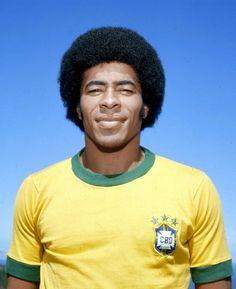 """""""Jairzinho"""" Jair Ventura Filho (Brazil, 1964–1982, 81 caps, 33 goals), 1974."""