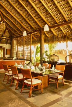 A great vacation always starts with a great meal.  Dinning Room - Caleton Villas, Cap Cana, Dominican Republic