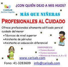 REVISA NUESTRA PAGINA WEB DE SERVICIOS PROFESIONALES A DOMICILIO WWW.CARISAB.COM