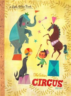 """childhood colors - feels all golden and happy. """"Little Golden Circus"""" (2014) - Joey Chou"""