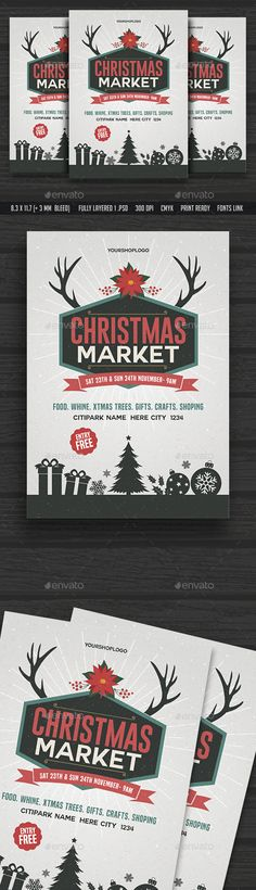 Christmas Market Flyer  — PSD Template #christmas market poster #offer • Download ➝ https://graphicriver.net/item/christmas-market-flyer/18518376?ref=pxcr