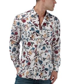 Amazon.com: Joe Browns Mens Retro Floral Shirt: Clothing