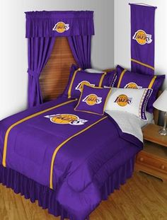 Los Angeles Lakers Sidelines Bedding and Accessories Set