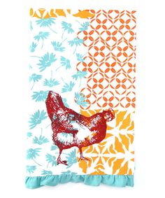 Look at this Funky Chicken Dish Towel - Set of Two on #zulily today!