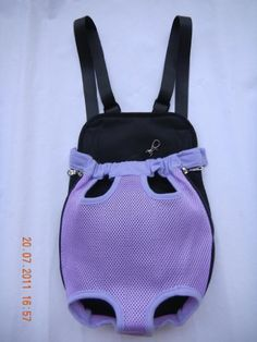 Outward Nylon Purple Backpack Front Style Net Bag Pet Dog Carrier-XLarge Size - http://www.thepuppy.org/outward-nylon-purple-backpack-front-style-net-bag-pet-dog-carrier-xlarge-size/