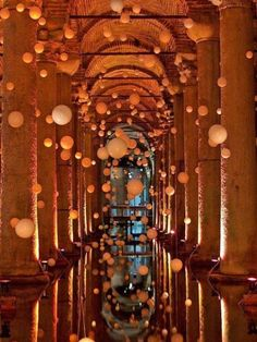 Basilica Cistern in Istanbul... someday I will make it to Turkey.