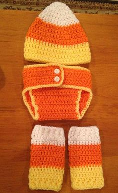 Candy Corn Outfit - Diaper Cover, Hat, Leg Warmers - Photo Prop, Halloween on Etsy, $38.00