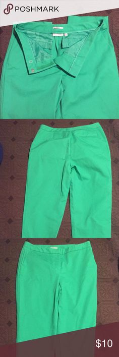 Halogen Taylor fit cropped ankle pants sz 6 ✨✨FLASH SALE✨✨Re-posh! Only worn once TAYLOR fit halogen green ankle pants. Pet free/smoke free home. Make me an offer!! Halogen Pants Ankle & Cropped