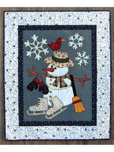 You have to see Cold Weather Friends on Craftsy! - Looking for quilting project inspiration? Check out Cold Weather Friends by member christineFRD. Applique Patterns, Applique Quilts, Quilt Patterns, Sewing Patterns, Christmas Applique, Christmas Sewing, Christmas Snowman, Xmas, Handmade Christmas