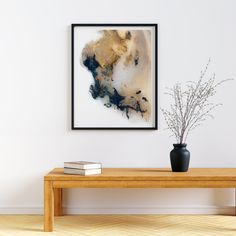 Another Anomaly | Mariëtte Kotzé | Blue & Yellow Abstract | Giclée Print | Limited edition of 10 Colorful Clouds, Ink Wash, Paper Dimensions, White Ink, Macro Photography, Floating Nightstand, Blue Yellow, Giclee Print, Fine Art Prints