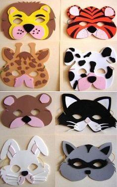 8 patrons à imprimer! Tierische Mascaras von Abs o actividades escolares. Kids Crafts, Felt Crafts, Diy And Crafts, Craft Projects, Simple Crafts, Clay Crafts, Animal Masks For Kids, Mask For Kids, Masks Kids