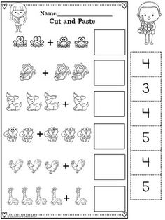 Addition Within 5 (Addition to -Distance Learning Packet For Kindergarten First Grade Worksheets, Kindergarten Math Worksheets, Preschool Learning, Learning Activities, Homeschool Worksheets, Kids Worksheets, Budgeting Worksheets, Alphabet Worksheets, Math For Kids