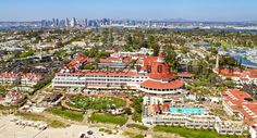 Hotel del Coronado From the Air....  Photo by Brent Haywood Photography.