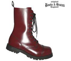 Boots & Braces Boots & Braces 10-Loch Stiefel, cherry  #bootsandbraces #boots #stiefel #cherry / mehr Infos auf: www.Guntia-Militaria-Shop.de