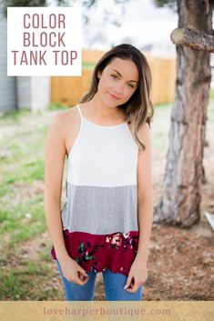 The Delores top is a playful piece that will make the perfect addition to any girl's spring wardrobe. With floral print, it can be teamed with denim and wedges for a lovely and casual look. Guaranteed to become your new favorite basic tank! Casual Summer Outfits For Women, Cute Winter Outfits, Simple Outfits, Outfit Summer, Curvy Outfits, Dressy Outfits, Boho Outfits, Fashion Outfits, Boho Fashion