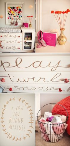 Parker's Sweet, Girly Nursery. I love this