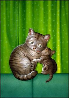By Makoto Muramatsu Image Chat, Gatos Cats, Cat Drawing, Crazy Cats, Cat Art, Kitsch, Cats And Kittens, Cute Cats, Cute Pictures