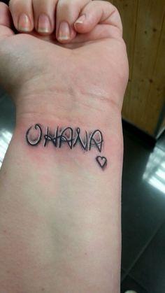 My first ever tattoo. OHANA. - January 2014