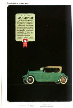 Marmon 34. Cosmopolitan, vol. 69, 1920.