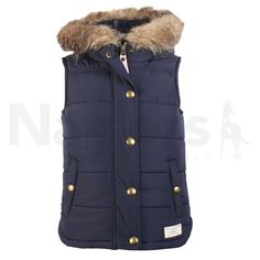 69c8bf27a Joules Girls Alanis Hooded Gilet French Navy