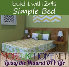 Build a simple modern bed with MoreLikeHome.net. Plus a chance to win Lowes and Home Depot gift cards!