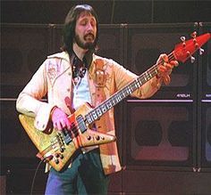 John Entwistle from the Who performing with his Alembic Spider bass during the 1970s