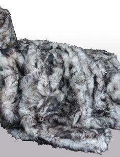 grijs Toscaans lams kleed