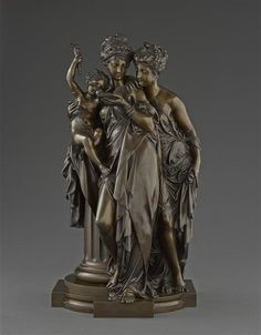 Albert-Ernest Carrier-Belleuse, The Reading, National Museum of the Chateau of Compiegne. Renaissance, Ernest, Architectural Antiques, National Museum, Bronze, Terracotta, 19th Century, Statue, Carrie