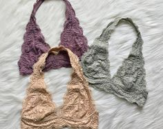 Scalloped Halter Lace Bralette, Floral Lace Bralette, Lacey Bralette, Halter Bralette, Lacey Tops, Lace Bras, Lace Intimates, Festival Tops