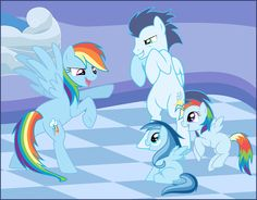 Rainbow Dash x Soarin' = OTP (not really, but they're adorable!)