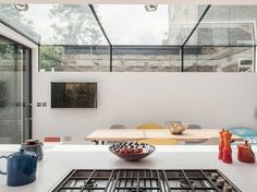 This project includes the complete refurbishment and extension of a 3 storey Vic. Victorian Skylights, Roof Extension, Glass Extension, Victorian Terrace House, Glass Roof, Patio Roof, House Extensions, Ground Floor, Decoration
