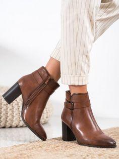 Klasické členkové topánky na podpätku Booty, Ankle, Shoes, Fashion, Moda, Swag, Zapatos, Wall Plug, Shoes Outlet