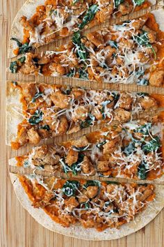 These Savory Sausage Pumpkin Flatbreads are perfect for fall! Fast and easy to make and just 314 calories or 7 Weight Watchers SmartPoints per flatbread! www.emilybites.com