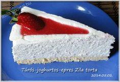 Túrós-joghurtos-epres Zila torta - Aliz konyhája - minden recepthez fázisfotók