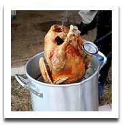 Cooking a Deep Fried Turkey and Draining it