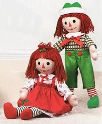 Christmas Raggedy Ann and Andy