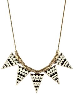 #Chicwish  Triangle Aztec Enamel Necklace - Accessory - Retro, Indie and Unique Fashion