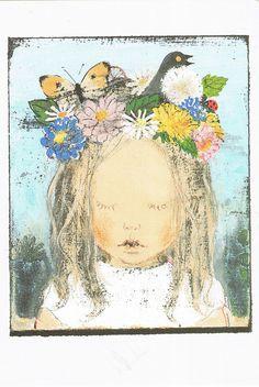 Illustration (not vintage) by komako sakai. So cute. Art And Illustration, Illustrations Posters, Japanese Theme, Comic Art, Art Asiatique, Art Brut, Inspiration Art, Asian Art, Art For Kids