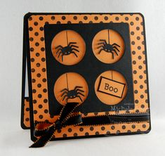 Spider Web Sentiments; Darling Dots; Peek-a-Boo Squared Die-namics; Paper Bag Peek-a-Boos Die-namics; Peek-a-Boo Dots Die-namics - Michele Boyer